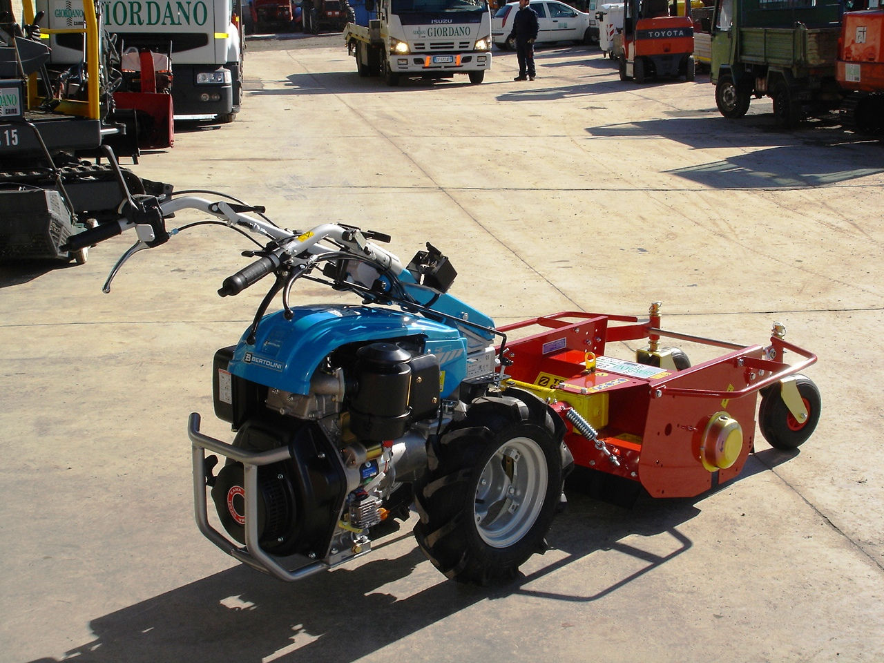 motocoltivatore nuovo bertolini 411 diesel con trincia