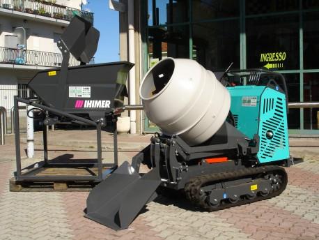 Motocarriola nuova ihimer carry 107 con betoniera e pala for Motocarriole cingolate usate