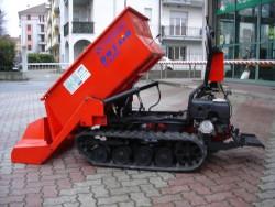 MOTOCARRIOLA USATA CINGOLATA ROTAIR RAMPICAR R 600 HONDA AUTOCARICANTE - PREZZO PORTATA 800 KG.