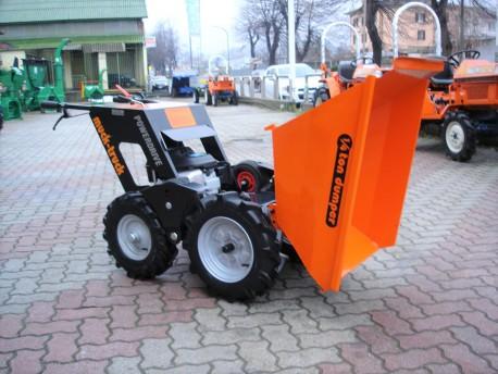 MOTOCARRIOLA GOMMATA MUCK-TRUCK POWER DRIVE TRASMISSIONE 4x4 250 Kg HONDA CASSONE DUMPER
