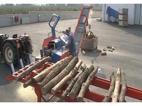 SEGA CIRCOLARE BALFOR SS 700 Professional + Spaccalegna 12 Ton Combinato CONNESSO A TRATTORE - NUOVO - VIDEO