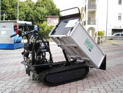 MOTOCARRIOLA CINGOLATA GIOR 600 Kg CASSONE AGRICOLO RIBALTAMENTO IDRAULICO SPONDE SMONTABILI