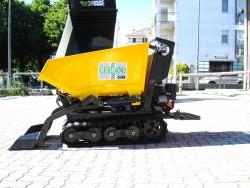 MOTOCARRIOLA USATA CINGOLATA TECNAR 600 Kg - AUTOCARICANTE - RULLI BASCULANTI - PARI NUOVO